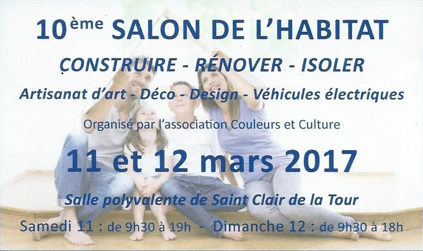 Salon de l 39 habitat st clair de la tour 11 et 12 mars 2017 for Salon de l habitat 2017